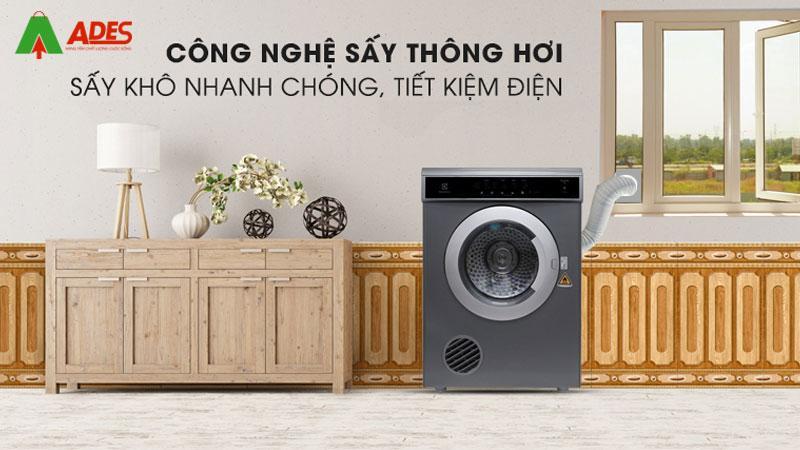 Cong nghe say thong hoi giu quan ao duoc say kho nhanh chong